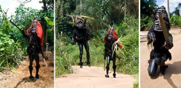 Ekpo Masqueraders (photo by David Pratten)